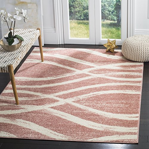 Safavieh Adirondack Collection ADR125Z Rose and Cream Modern Area Rug (6′ x 9′) For Sale