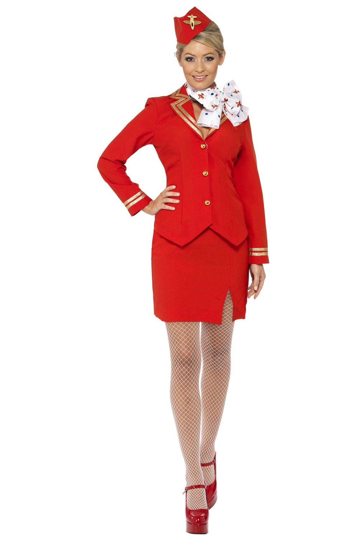Sexy Damen trolley dolly Stewardess, Größe 34/36/40/44 (Damen: 42)