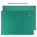 quilting cutting board - Rotary Cutting Mat Self-Healing Double-Sided Ruler Mat 24 x 18 INCHES for Crafts Sewing Hobbies by ZERRO(A2)