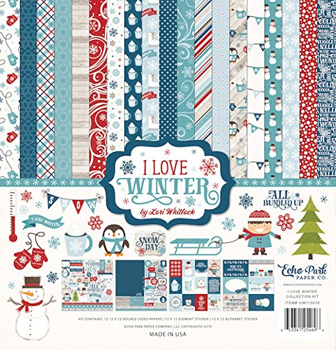Echo Park Paper Company ILW115016 I Love Winter Collection Kit by Echo Park Paper Company
