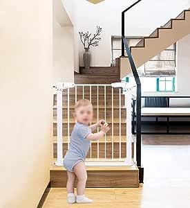 Puertas de seguridad Puerta de bebé con puerta para mascotas Puerta de bebé retráctil Bebé de seguridad Parque infantil Niños Puerta de barrera Puerta de puerta Escaleras para escaleras (Tam: Amazon.es: Bebé