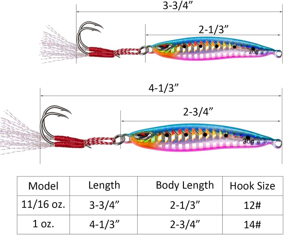 Winter Ice Fishing Lures for Bass Pike Trout Walleye Goture Ice Fishing Jig Kit with Carbon Steel Hooks in Tackle Box