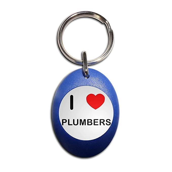 BadgeBeast.co.uk I Love Plumbers - Llavero ovalado de ...