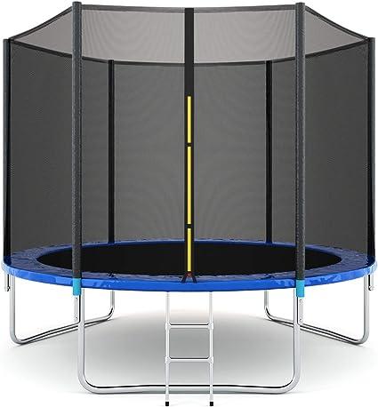 Giantex - Conjunto de cama elástica para saltar, con red de seguridad, escalera y protector para los muelles - SP35279+, 12 FT: Amazon.es: Deportes y aire libre
