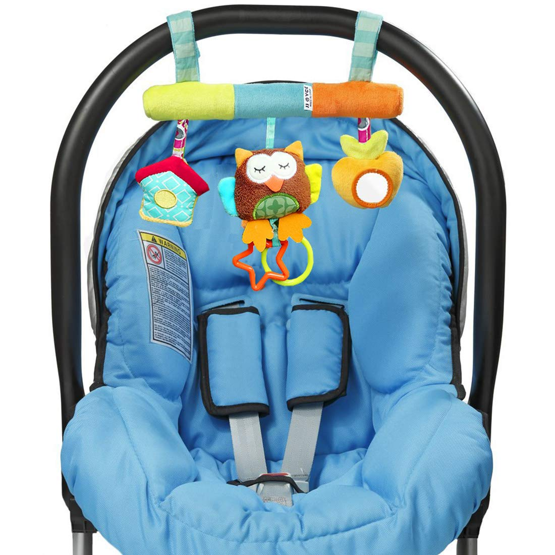 JJOVCE Infant Baby Activity Bed Hanging Toys Teether BB Rattle And Safety Mirror For Stroller Car