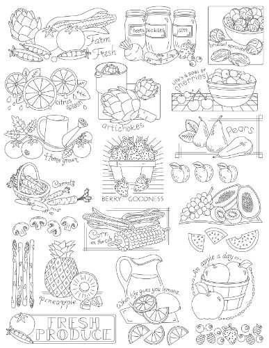 Amazon Aunt Marthas Fruits And Veggies Embroidery Transfer