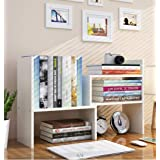 Expandable Wood Desktop Bookshelf Desktop Organizer Office Storage Rack Wood Display Shelf - Free Style Display True Natural