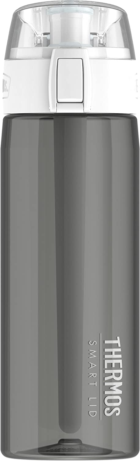 Thermos 24 Ounce Hydration Bottle with Connected Smart Lid, Smoke