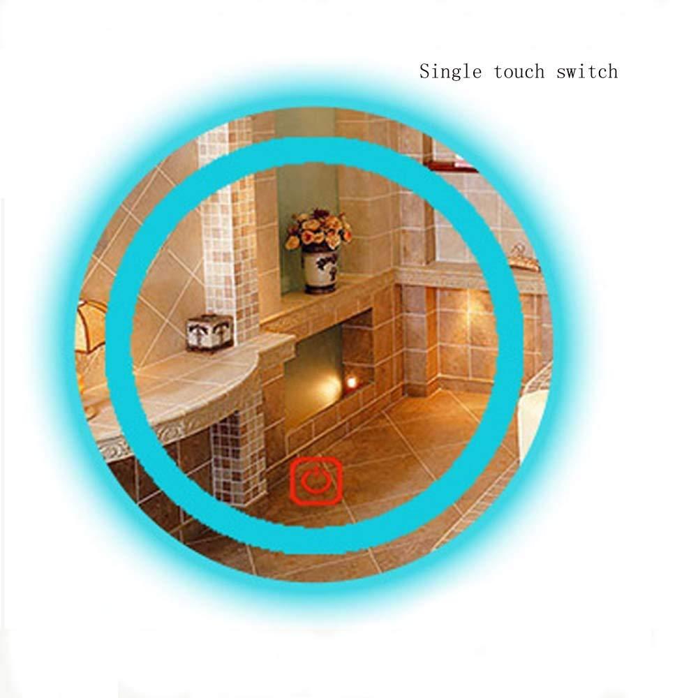 シェービングミラー、LEDバックライト付きミラー、バスルーム照明付き化粧鏡 - 調光対応、防曇、タッチスクリーン、バスルームミラー防曇壁掛け化粧台ミラー(LEDライトスタンド付) (Color : Single touch+light, Size : 70*70CM) 70*70CM Single touch+light B07STN8V6T