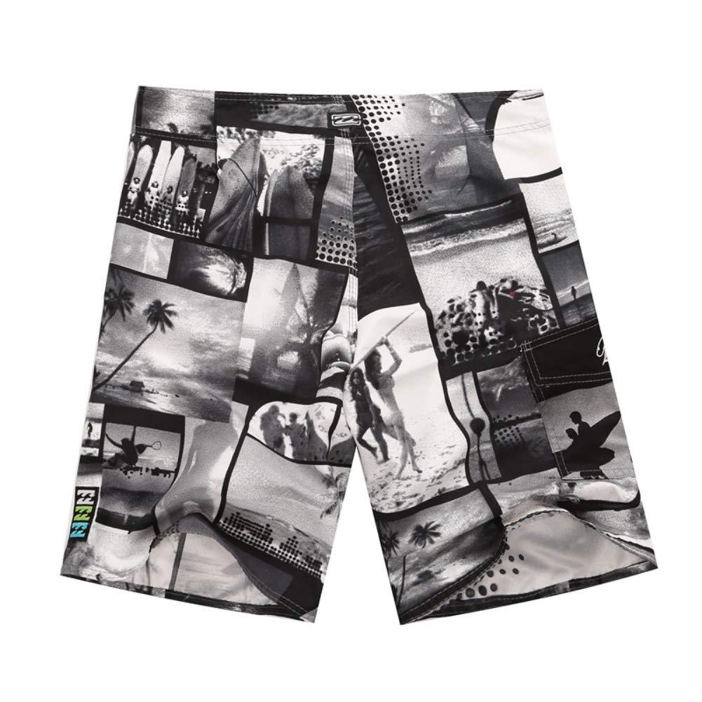ha/&NDS/&He4n Mens Quick Dry Beach Shorts Swim Trunks,Summer Vacation Print Beach Shorts Fifth Pants Men Drawstring Swimming Trunks