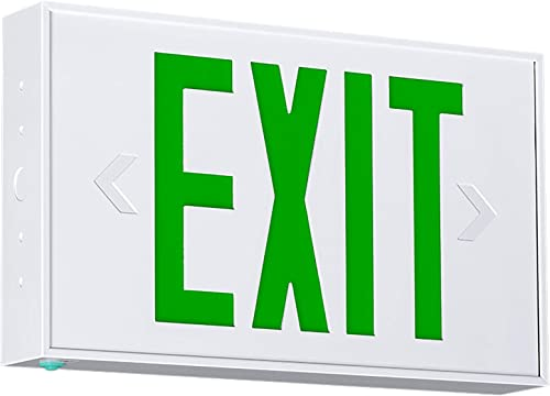 Hubbell Industrial CSEUEG LED Emergency Exit Sign, White