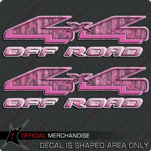 4x4-Pink-Camouflage-Truck-Sticker-Hunting-Decal-Set