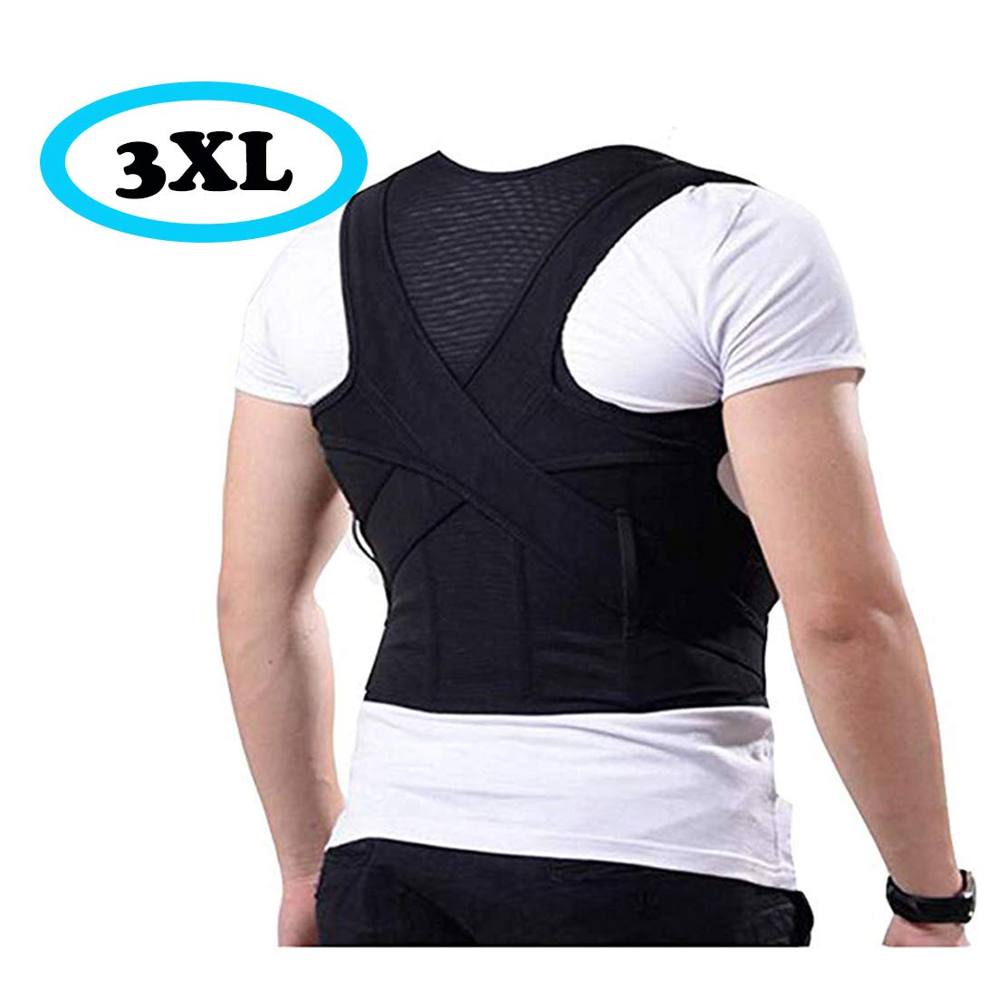 Improved Size Straight Back Posture Support,Correct Sitting Posture,Upright Humpback Posture,Breathable Back Brace and Comfort Back Support.(3XL) by GXBTOP