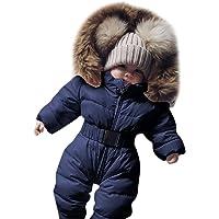 Covermason Baby Babykleidung Neugeborene Winter,Säuglingsbaby Junge Mädchen Spielanzug Strampler Jacke Mit Kapuze Overall Warm Dicker Mantel Coat Outfit