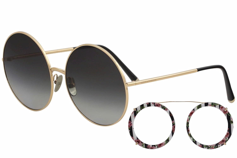 Dolce & Gabbana 0DG2198 Gafas de sol, Pink Gold/Black Print ...