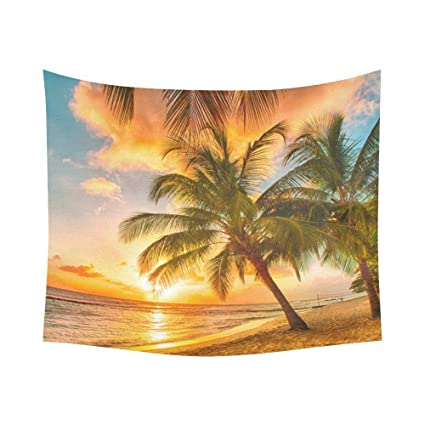 Amazon.com: Custom Coconut Palm Tree Ocean Sea Paradise Hawaii Beach ...