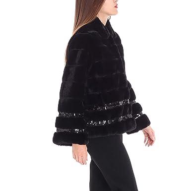 48 Black co uk Twin Pa82ka Pelliccia In Amazon Cappotto Clothing Size Set wwnOFqa