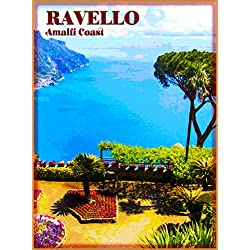 Ravello Italia Italy Amalfi Coast Vintage Italian Europe European Travel Advertisement Art Collectible Wall Decor Poster Print. measures 10 x 13.5 inches