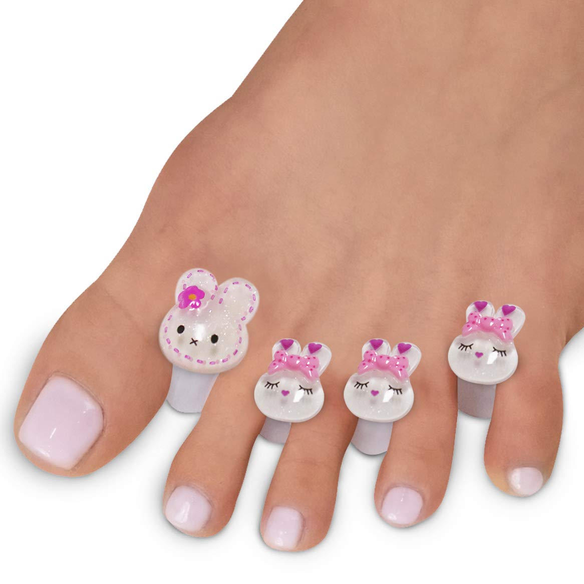 Toe Separators for Nail Polish Pedicure - 8 x Spacers, Stretchers, Spreaders, Polish Guards - Toe Spacers for Feet - (Rabbits)