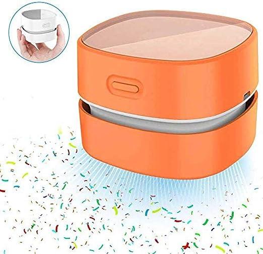 Aspiradora de escritorio Barredora de migas de mesa portátil con carga USB 360 ° giratorio 1000Pa 13500rpm Mini limpiador de polvo de escritorio inalámbrico: Amazon.es: Hogar