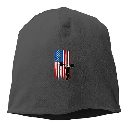 dfb1822867b43 Amazon.com  Men and Women USA Flag Team Weightlifting Warm Stretchy ...