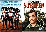 Stripes + Three Amigos 2 Double Feature DVD 80's Comedy Set Bundle