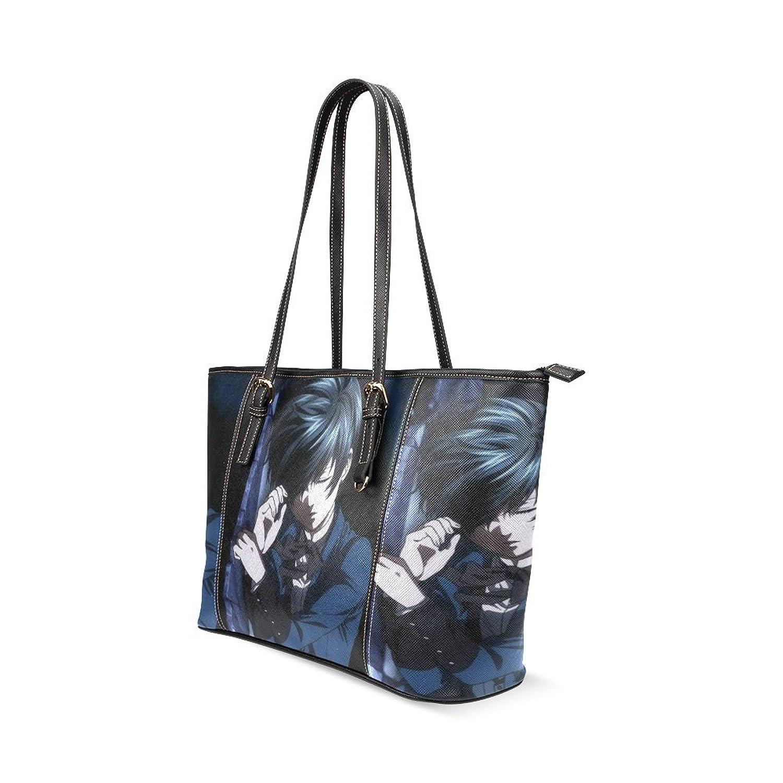 Black Butler Custom Leather Tote Bag/Handbag/Shoulder/travel Bag for Women Girls