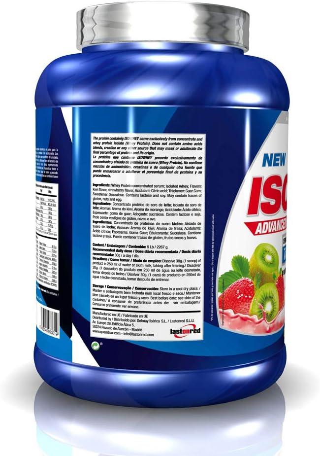 Quamtrax Proteina Iso Whey Sabor Fresa y Kiwi - 2267 gr: Amazon.es: Salud y cuidado personal
