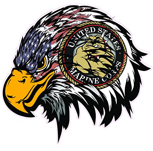 (Marines American Flag Eagle Head)