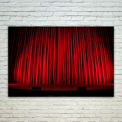 Stage Lighting Theatrical Light - Westlake Art Poster Print Wall Art - Red Stage - Modern Picture Photography Home Decor Office Birthday Gift - Unframed - 18x12ind9-fee-aee