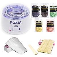 Hair Removal Hot Wax Warmer Waxing Kit Wax Melts Professional Wax Heater With 100pcs Waxing Paper 50pcs Waxing Sticks And 5 Flavors Hard Wax Beans