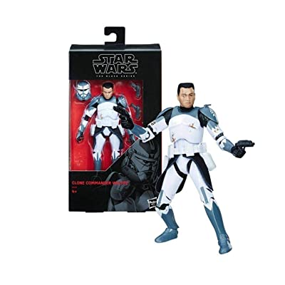 Star Wars The Clone Wars Black Series Clone Commander Wolffe Action Figure [6 Inch]: Toys & Games