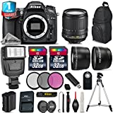 Holiday Saving Bundle for D7100 DSLR Camera + 18-105mm VR Lens + Backpack + 2 Of 32GB Card + 1yr Extended Warranty + Flash + 0.43X Wide Angle Lens + 2.2x Telephoto Lens - International Version
