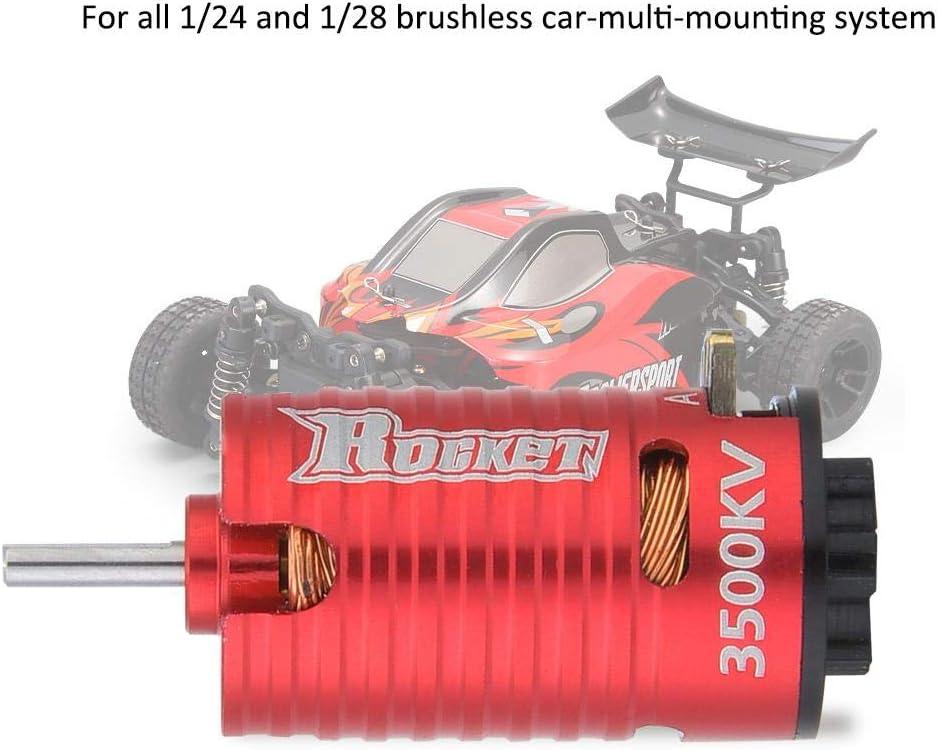 Motor sin escobillas para Coche teledirigido 1//24 1//28 Rakete Mini-Z 3500KV