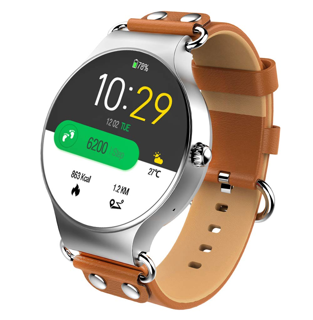 KOSPET Smartwatch, Wi-Fi GPS Smart Watch with SIM Card Slot, 3G Phone Call Fitness Watches with Heart Rate Monitor, 1.39 Inch AMOLED Display, ...