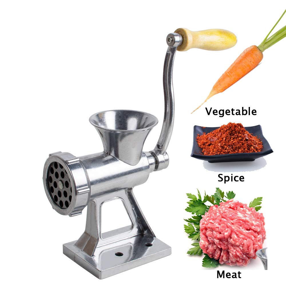 zorvo Multifunction Manual Meat Grinder with Long Tube Filling Sausage Machine