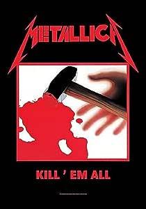 Metallica Poster Kill Em All Album Cover Official Textile Flag 104 X 65cm