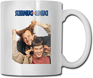 ZzeoCou Cups Dumb and Dumber Funny Design Fashion Coffee Mug Tee Cup Gift for Fans Husband Wife Girlfriend White