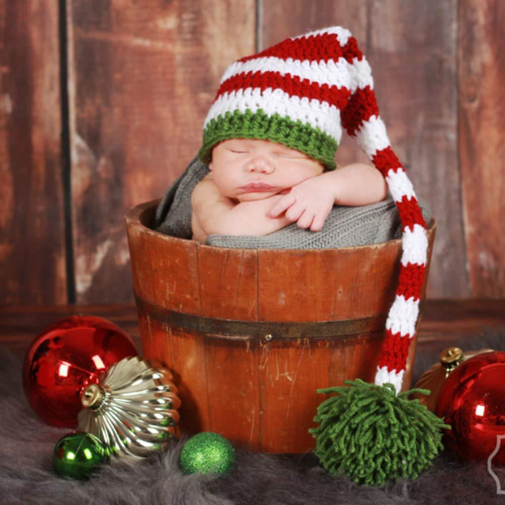 Weihnachten Baby Handarbeit gestrickt h/äkeln Stricken Kleidung Foto Fotografie Baby Kost/üm neugeboren Geschenk