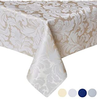 Merveilleux Tektrum 70 X 70 Inch Square Damask Jacquard Tablecloth Table Cover    Waterproof/Spill Proof