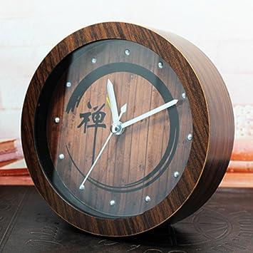Nostálgico jardín chino estilo madera Zen despertador ...