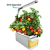 Finether Hydroponic Growing System Kit with LED Grow Light (2 Gardening Pots) (Yellow)
