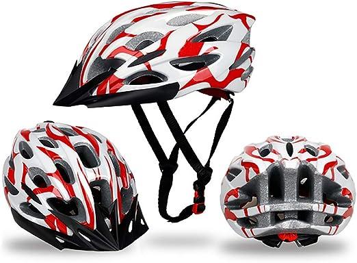 ZXASDC Casco Bicicleta, Certificado CE Casco Ajustable Bicicleta ...