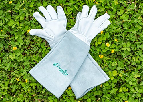 Rose Pruning Gloves For Men And Women. Thorn Proof Goatskin Leather Gardening  Gloves With Long Cowhide Gauntlet ...