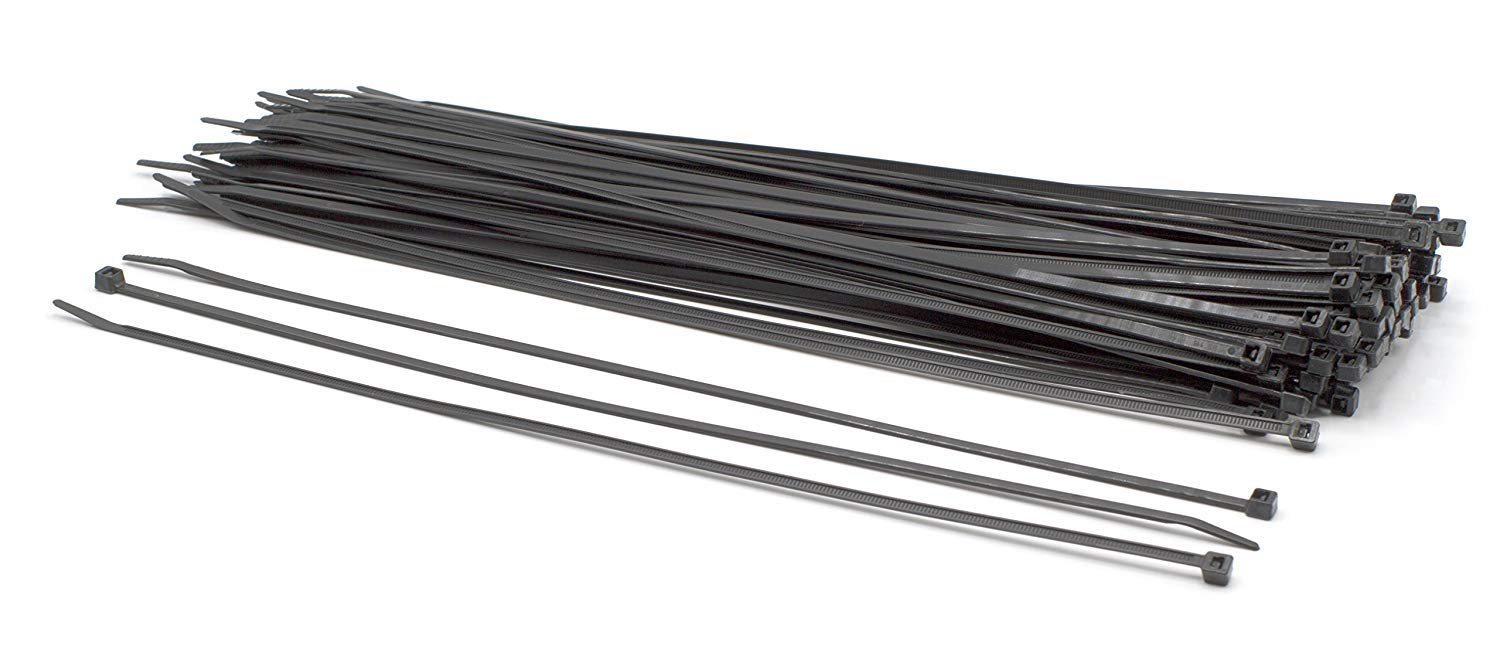 """THE CIMPLE CO - 14 inch Black Nylon Zip Ties : Strong Zip Tie, Wire Ties : Indoor and Outdoor Rated 