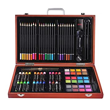 j&t Maletín para Colorear 82pcs. Artista Lápices de Colores ...