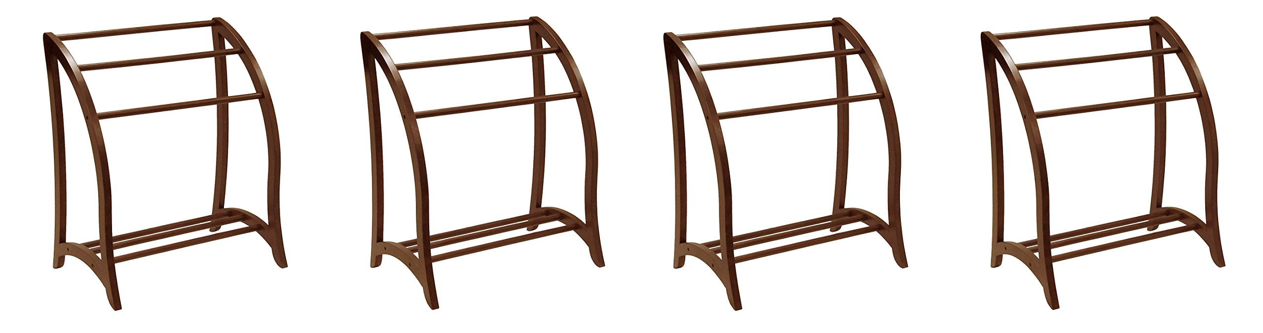 Winsome Wood Blanket Rack, Antique Walnut (Pack of 4)