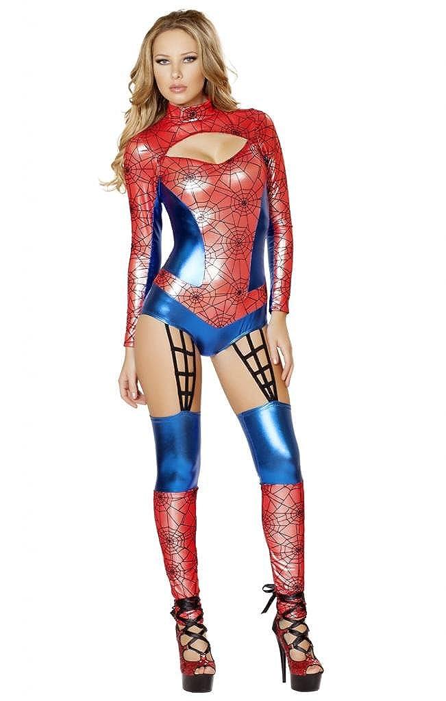 Amazon Com Sexy Spider Man Romper Girl Halloween Costume Clothing