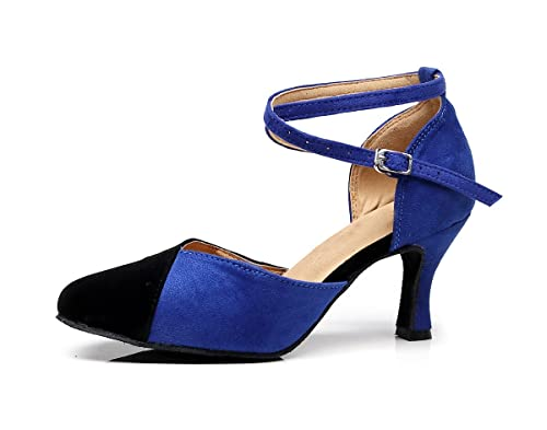 Minitoo - Da Sala donna , Blu (Blue-7.5cm Heel), 35