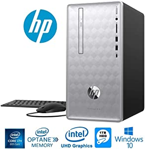 HP Pavilion 590 Intel Core i7+ 8700 6-Core 8GB+16GB Intel Optane 1TB HDD PC (Renewed)